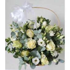 Flower basket - White