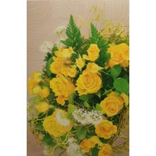 Postcard - Yellow roses 8x12cm