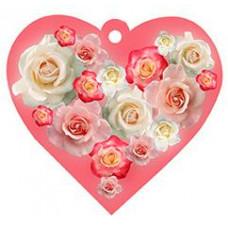 Postcard - Rose heart 7×8cm